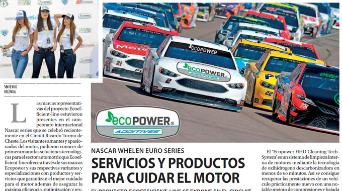 El Proyecto Ecoefficient-Line Se Expone En El Circuit De Cheste En El Nascar.