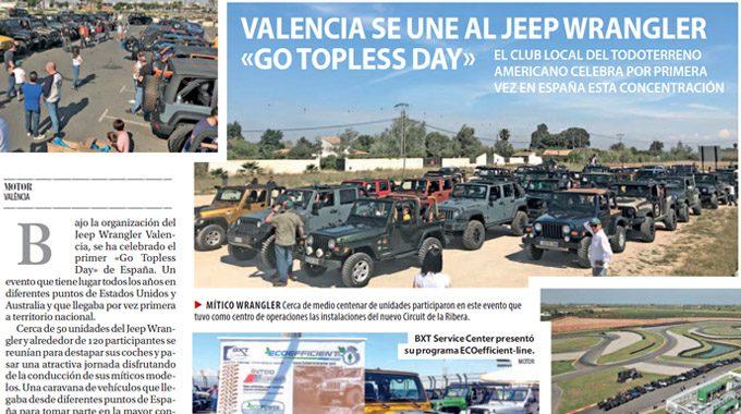 Valencia Se Une Al Jeep Wrangler «Go Topless Day».