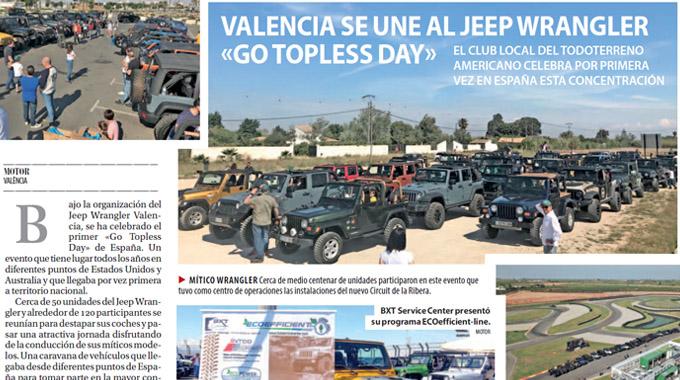 """Valencia Se Une Al Jeep Wrangler """"Go Topless Day""""."""